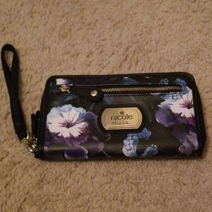 Nicole wristlet zip-around wallet